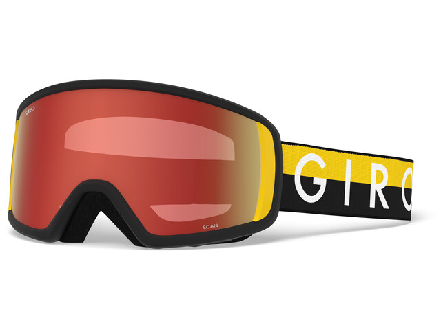 Giro Scan Gafas de Nieve, black-yellow throwback w amber scarlet